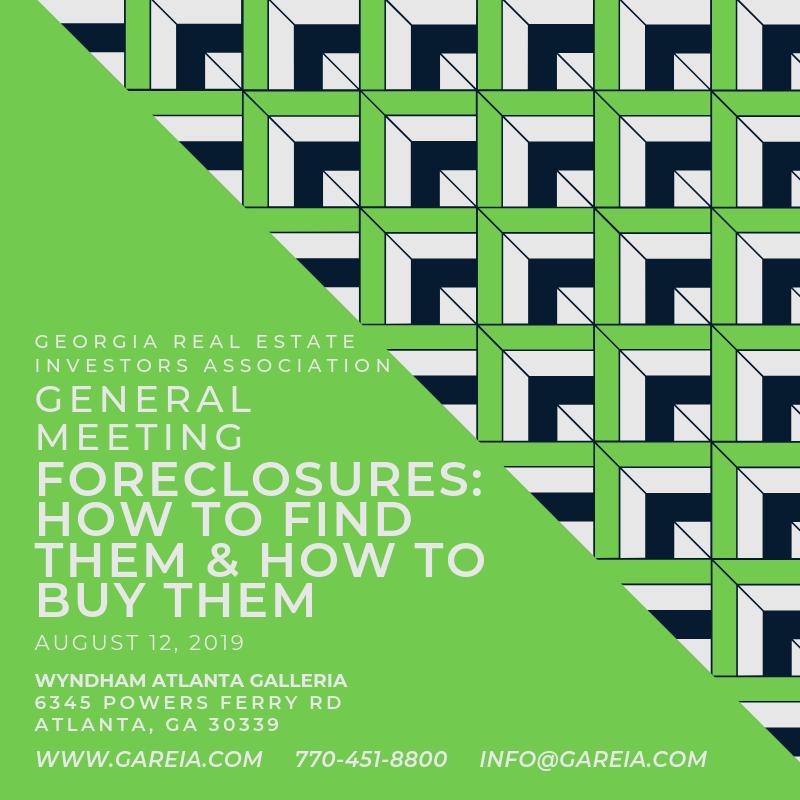Georgia Real Estate Investors (GaREIA) Atlanta Real Estate Investing  